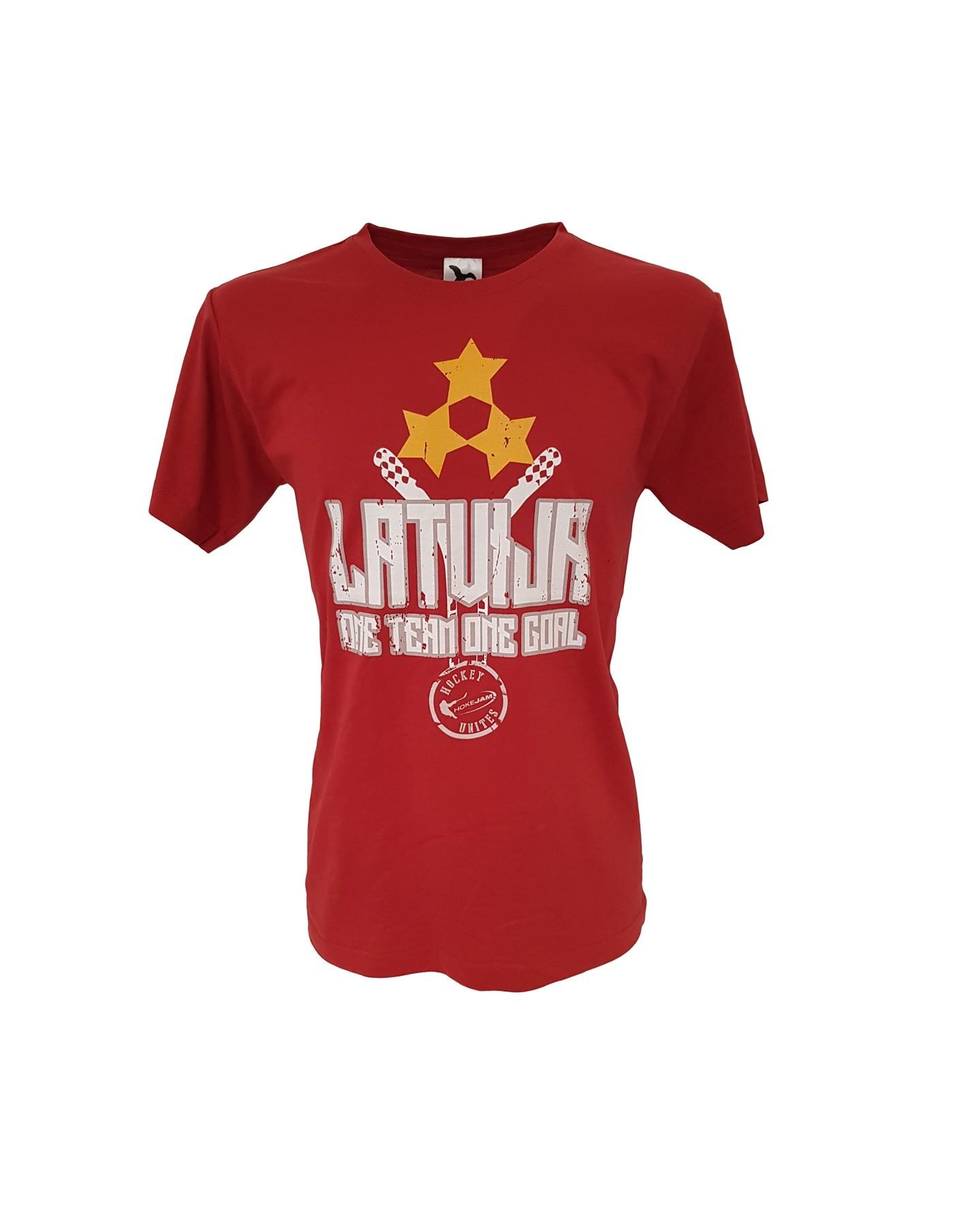 HOKEJAM.LV Latvija One Team One Goal Pieaugušo T-Krekls