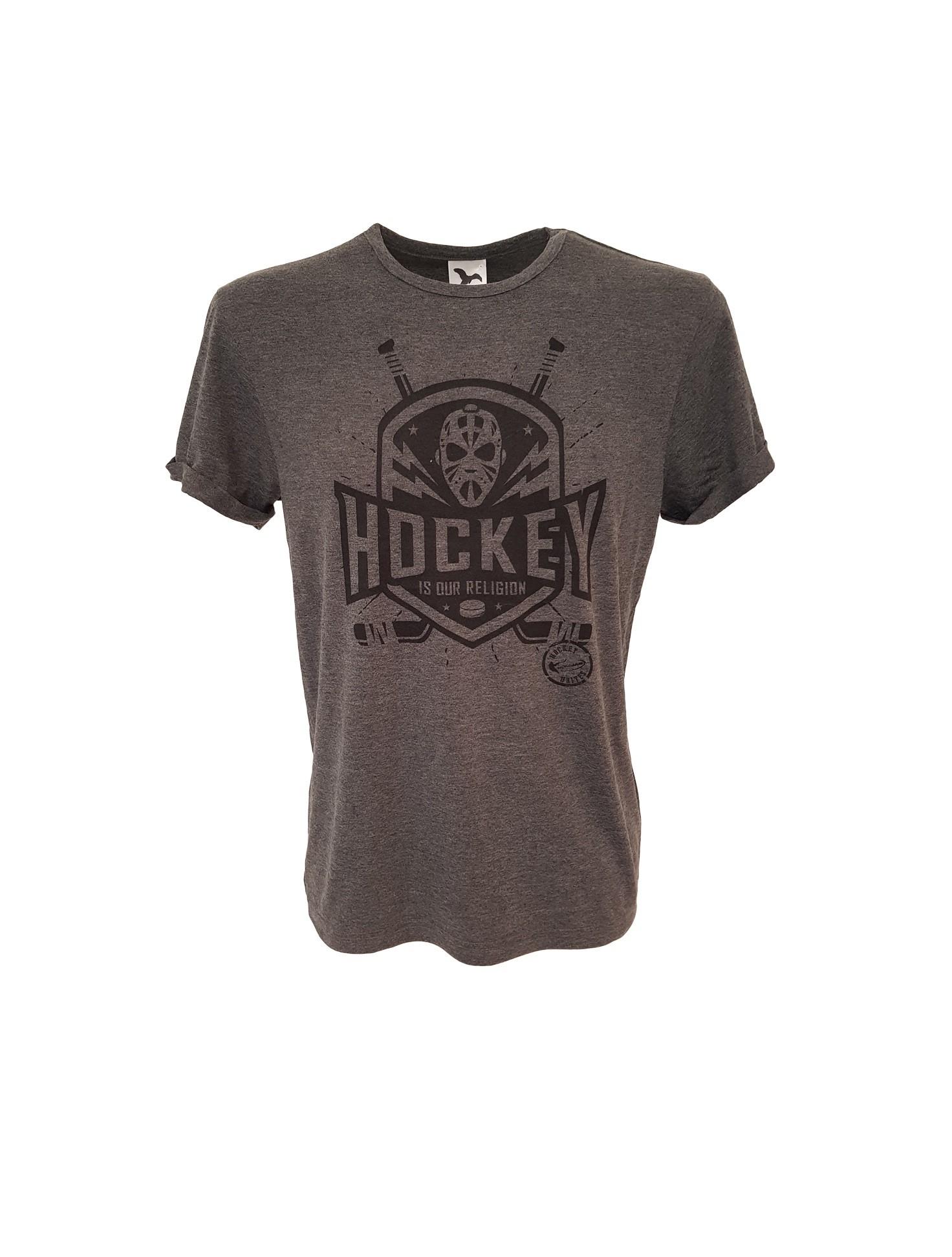 HOKEJAM.LV Hockey Is Our Religion Pieaugušo T-Krekls