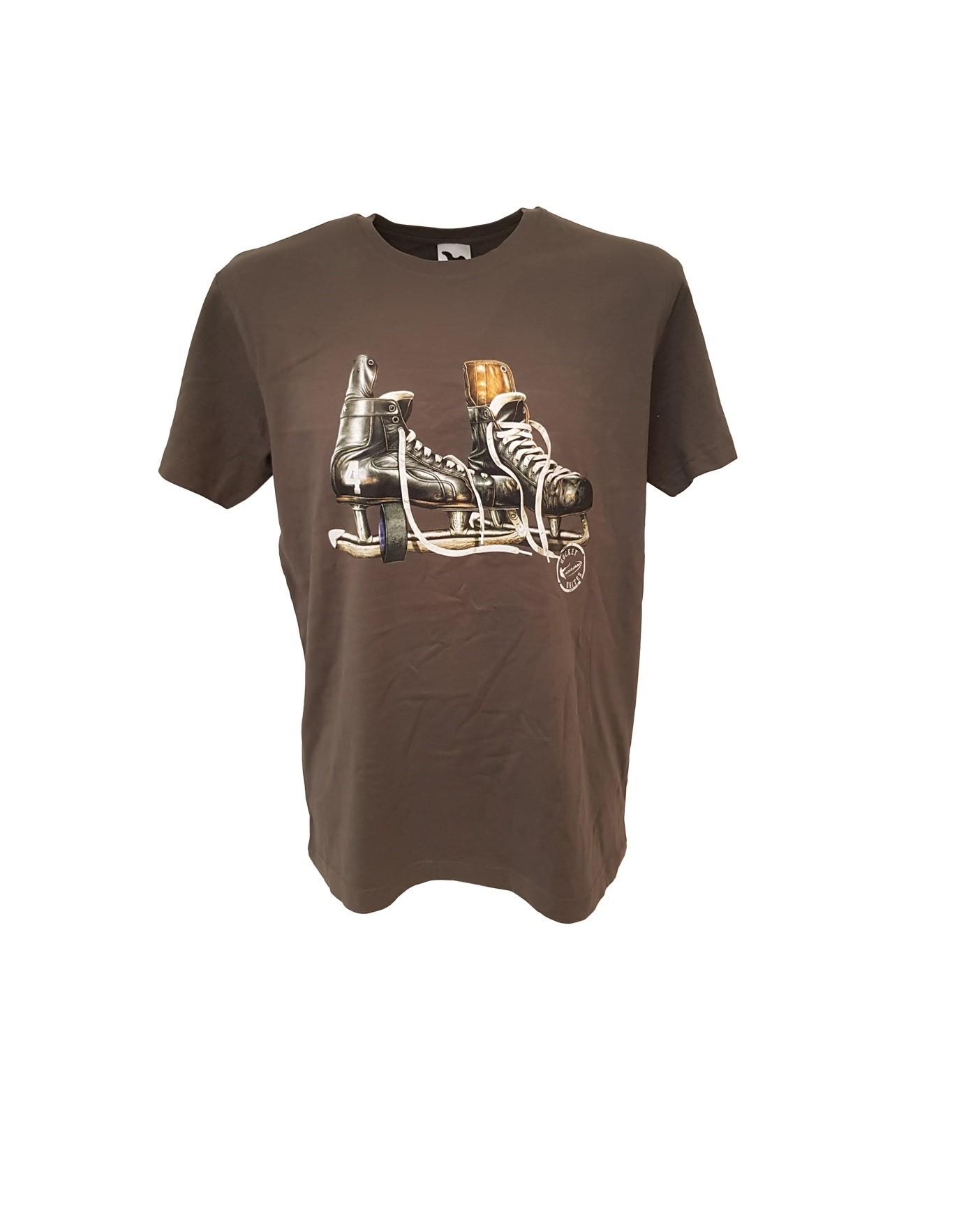 HOKEJAM.LV Skate Logo Pieaugušo T-Krekls