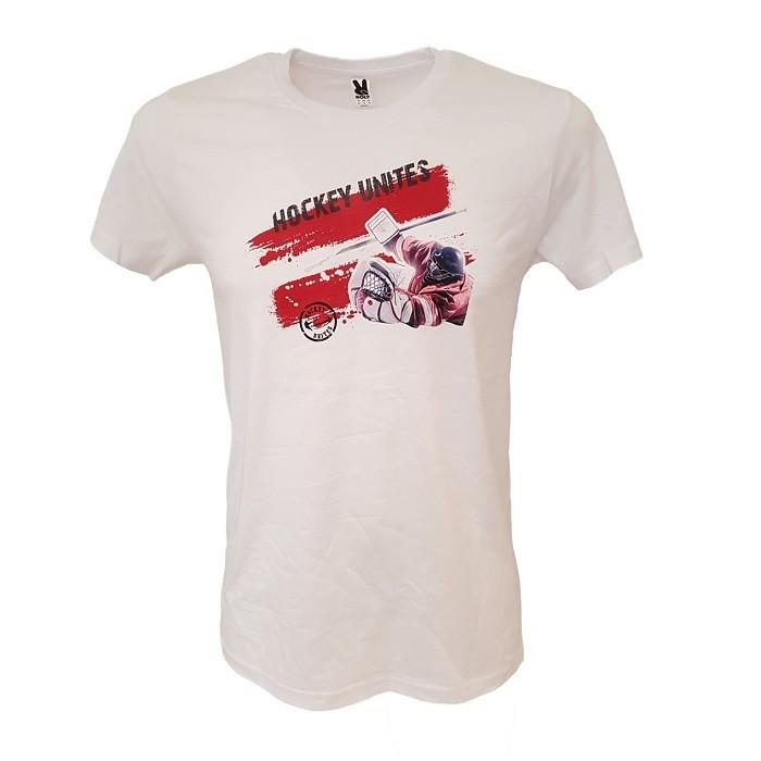 HOKEJAM.LV Pieaugušo Vārtsarga Logo Latvija T-Krekls