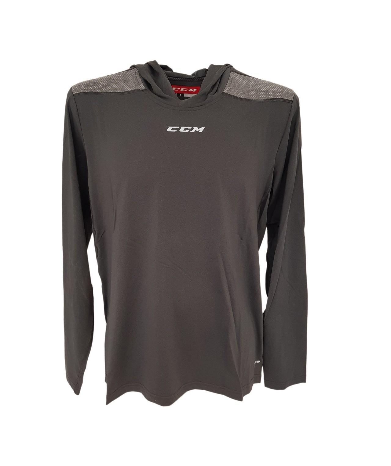 CCM Dynamic Ls Hooded Tee Pieaugušo Krekls