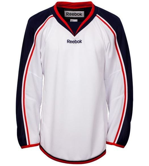 REEBOK Columbus Blue Jackets Edge Pieaugušo Hokeja Krekls (Izbraukuma)