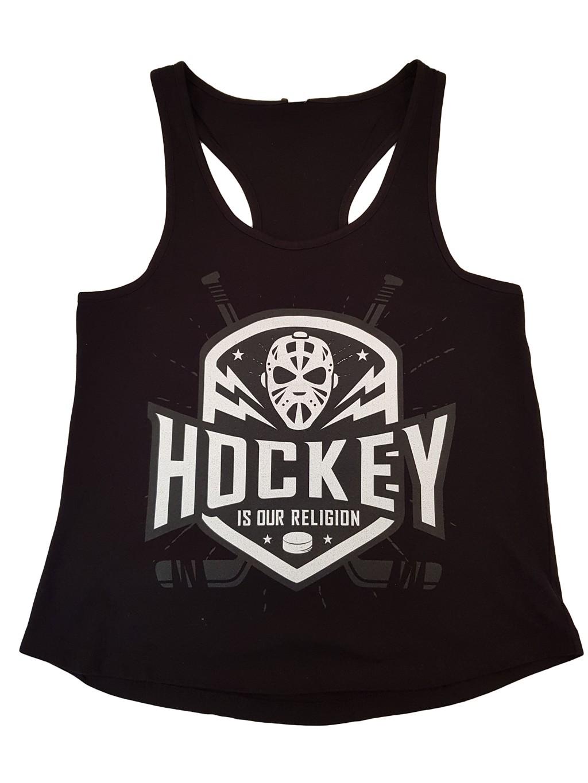 HOKEJAM.LV Hockey Is Our Religion Pieaugušo T-Krekls Bez Piedurknēm