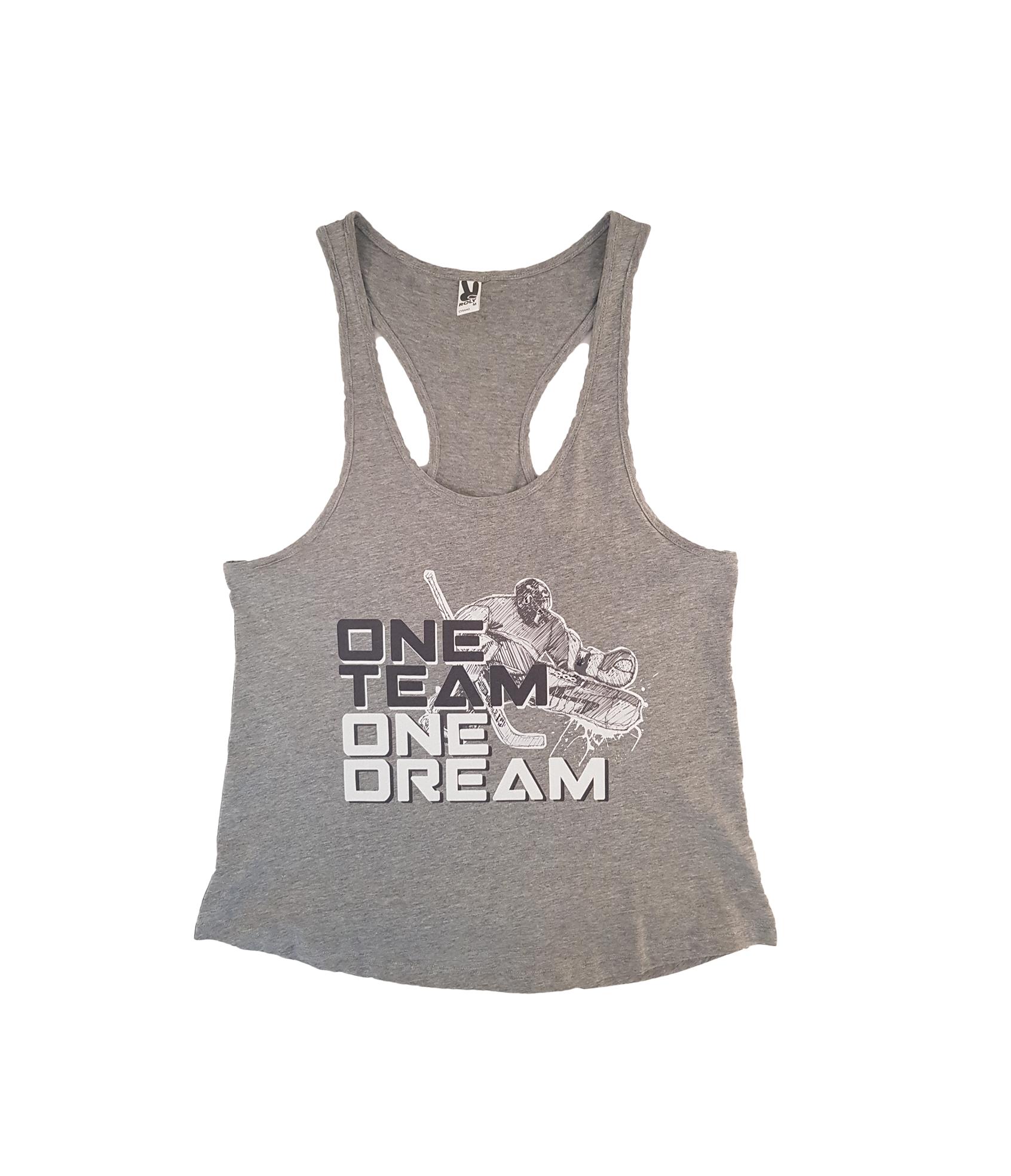 HOKEJAM.LV One Team One Dream Pieaugušo T-Krekls Bez Piedurknēm