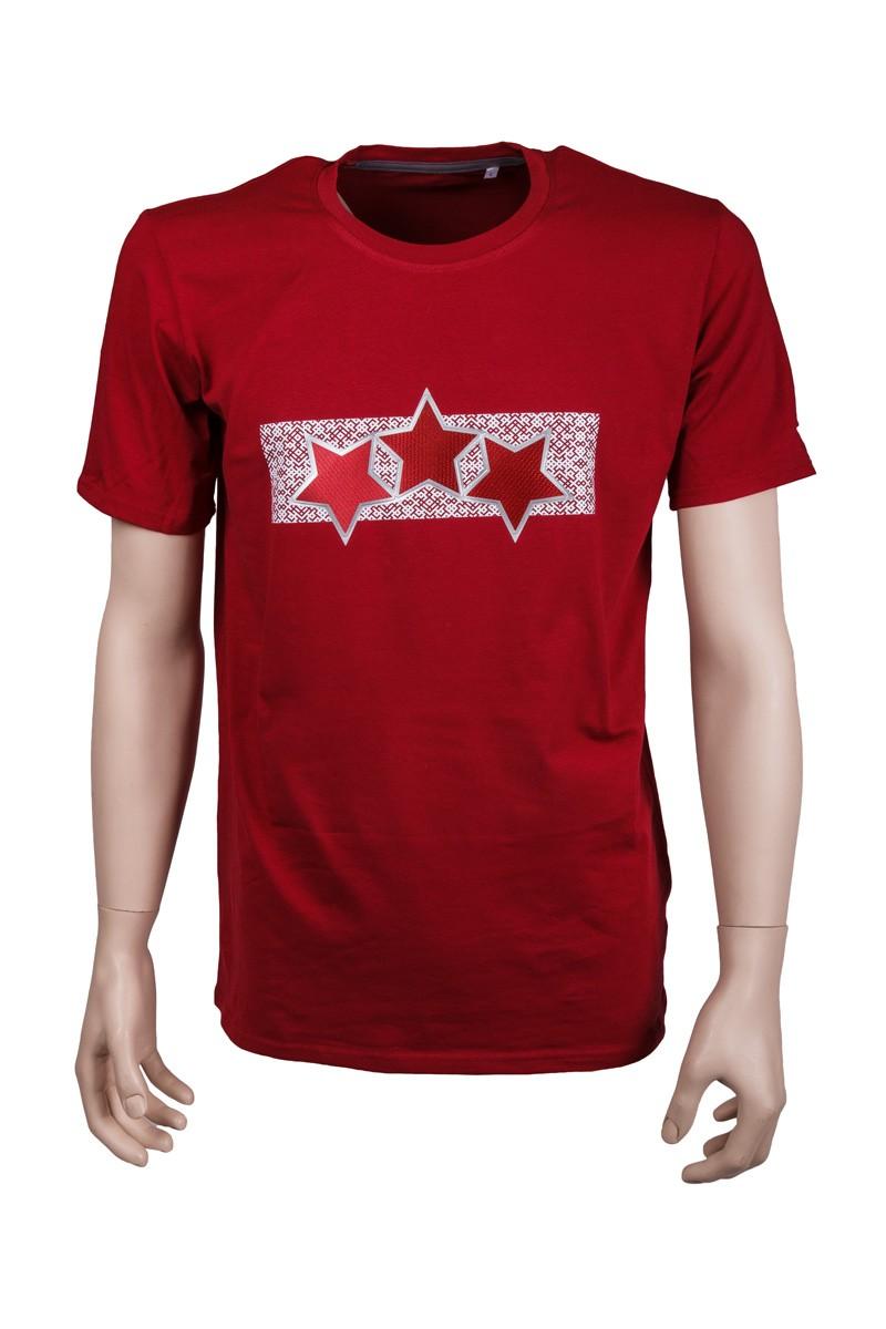 Pieaugušo Latvijas Trīs Zvaigžņu T-Krekls
