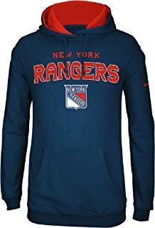 REEBOK New York Rangers Face Off Pieaugušo Džemperis ar Kapuci