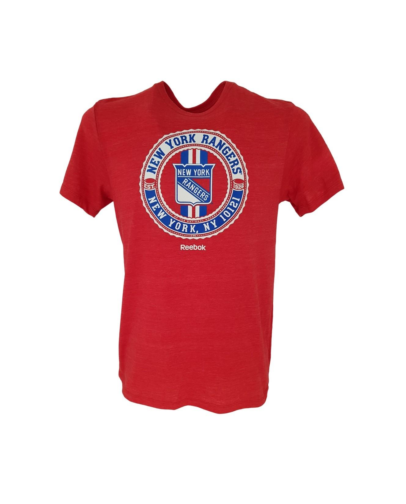 REEBOK New York Rangers Senders Pieaugušo T-Krekls