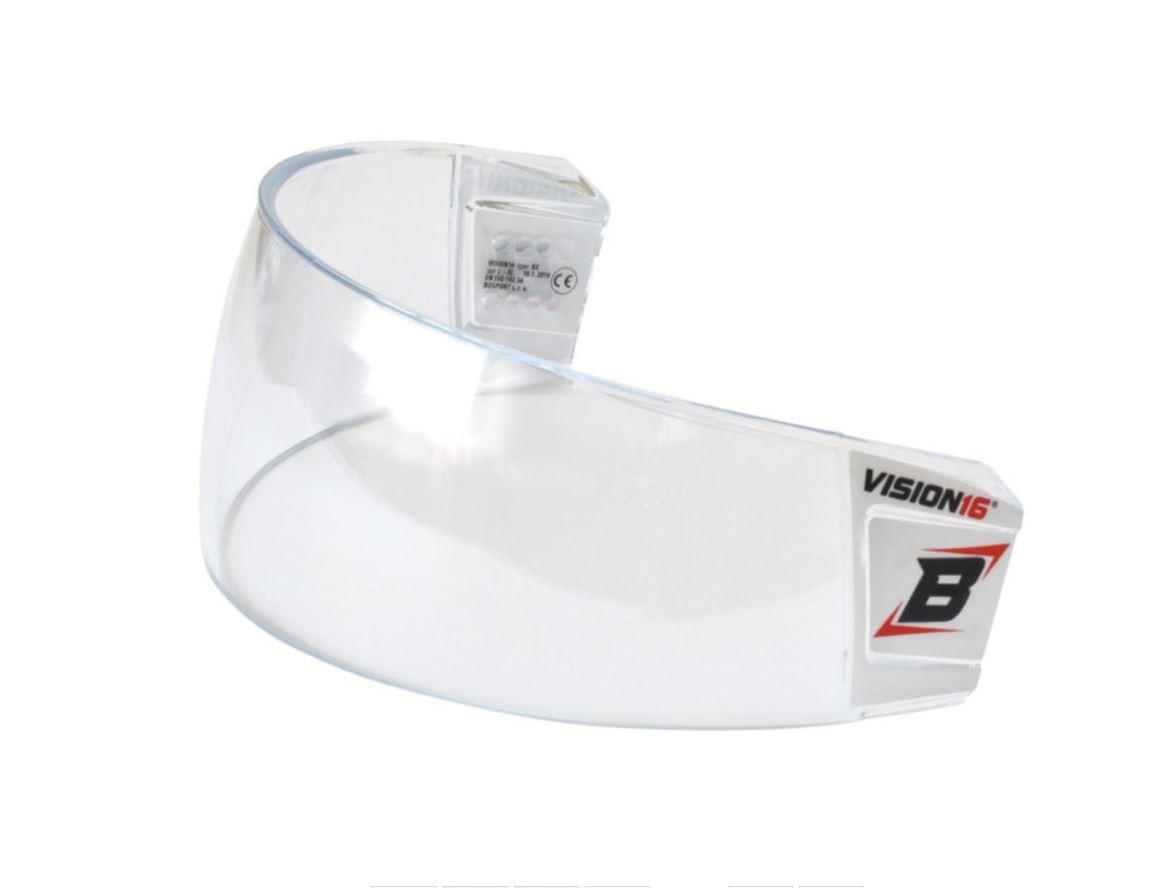 BOSPORT Vision16 Pro Hokeja Ķiveres Aizsargstikls ar Kopšanas Komplektu