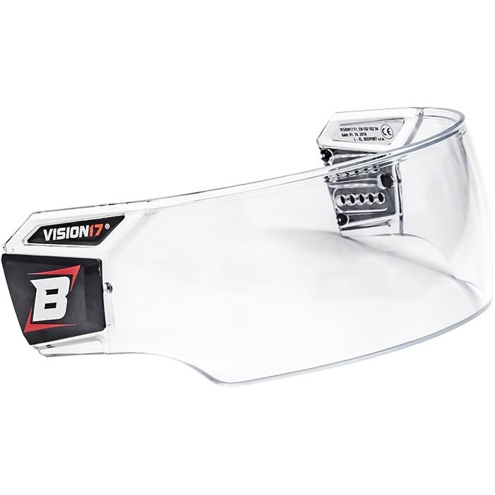 BOSPORT Vision17 Pro Hokeja Ķiveres Aizsargstikls ar Kopšanas Komplektu