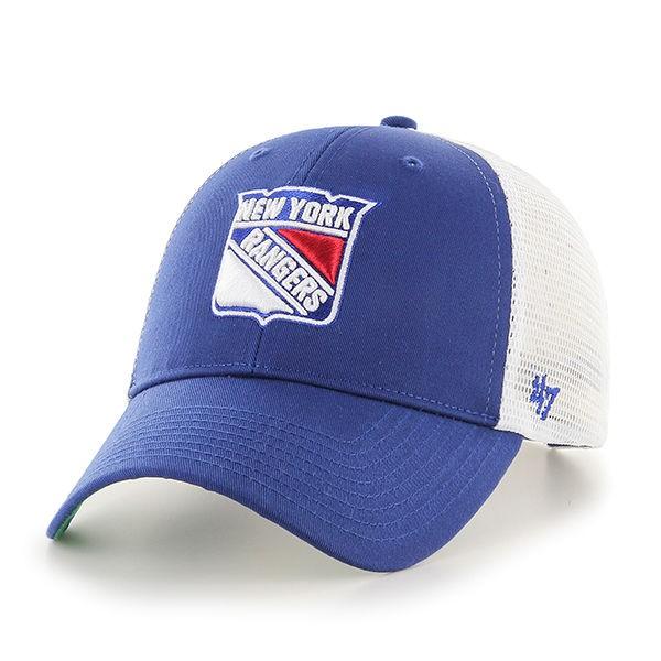 BRAND 47 New York Rangers Branson MVP Adjustable Snapback Vasaras Cepure