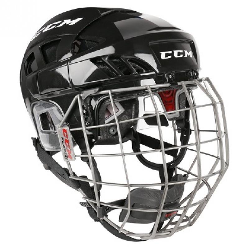 CCM Fitlite 80 Hokeja Ķivere ar Režģi