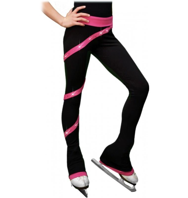 Chloe Noel PS106P Youth Elite Polartec Spiral Daiļslidošanas Bikses