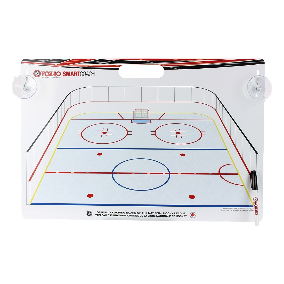 FOX 40 Deluxe Pro Clipboard + Rigid Kit International Hockey Coaching Board Hokeja Taktikas Dēlis