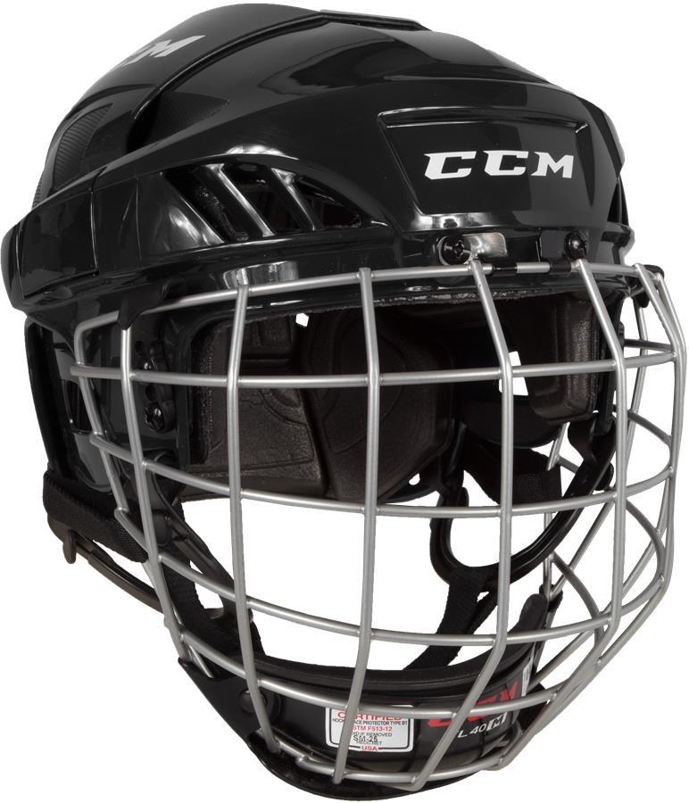 CCM Fitlite 40 Hokeja Ķivere ar Režģi