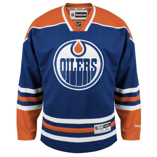 REEBOK Edmonton Oilers Edge Premier Pieaugušo Hokeja Krekls
