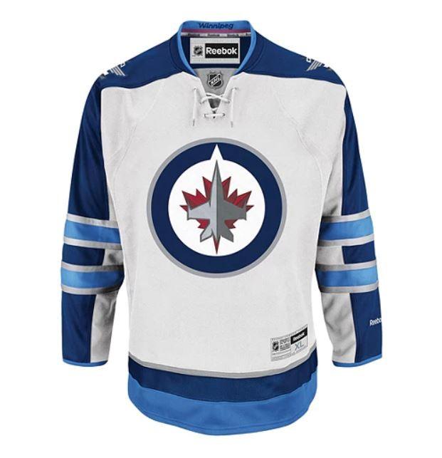REEBOK Winnipeg Jets Pieaugušo Premier Krekls Izbraukuma