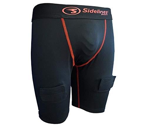 SIDELINES Pieaugušo Underwear Kompresijas Šorti ar Spenzūru