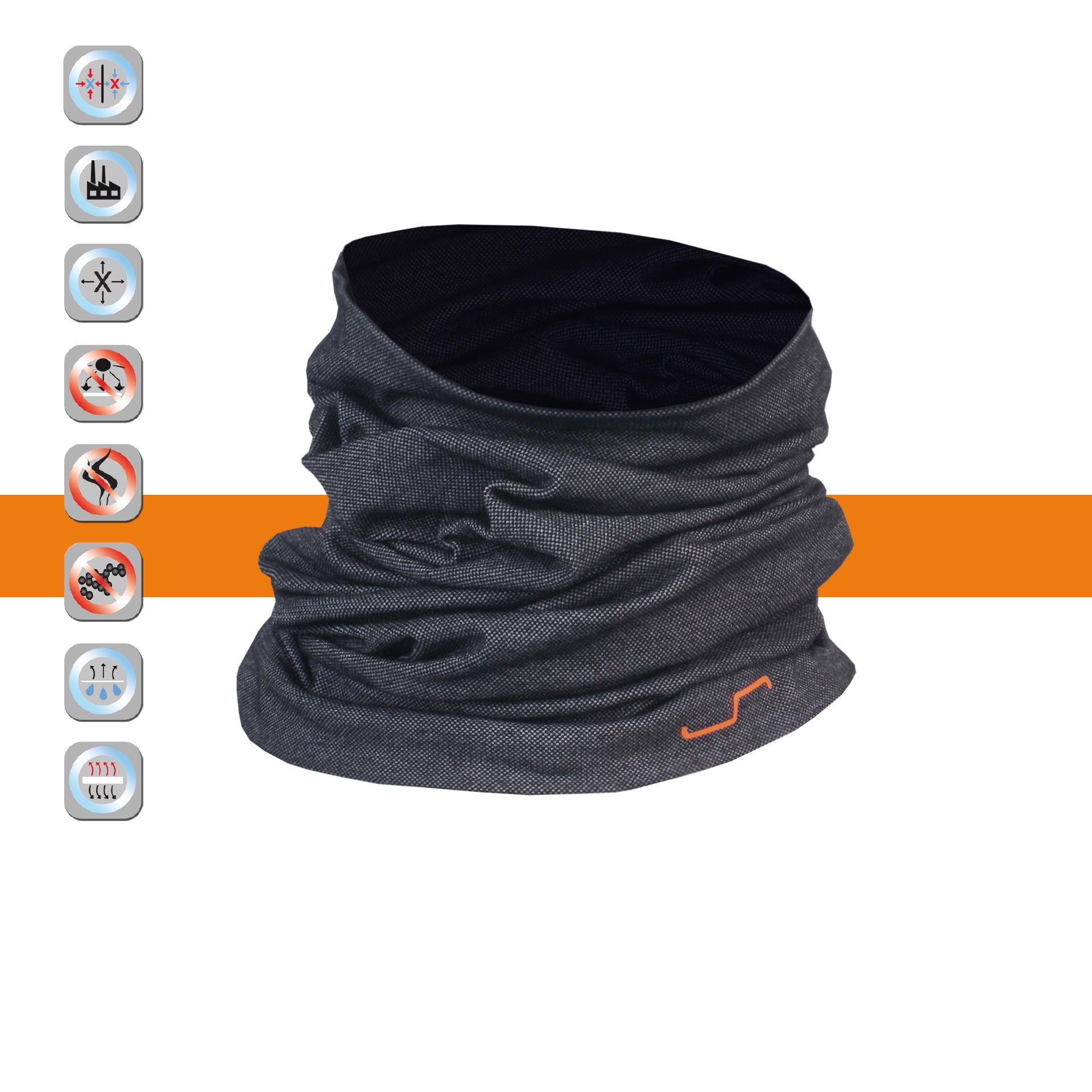 SIMLOC Orange Line Antibakteriāla Termoveļas Kakla Bandana - Sejas maska