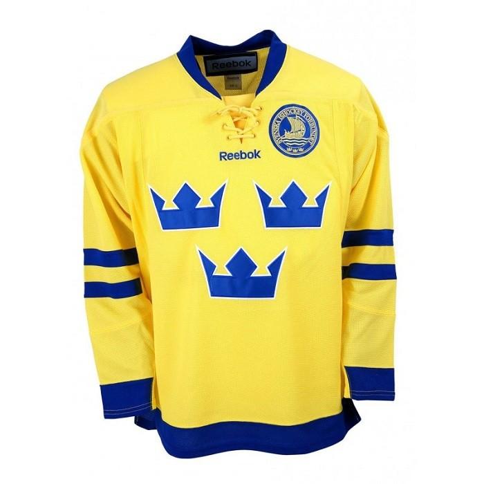 Reebok Team Sweden Adult Майка Хоккейная Гостевая