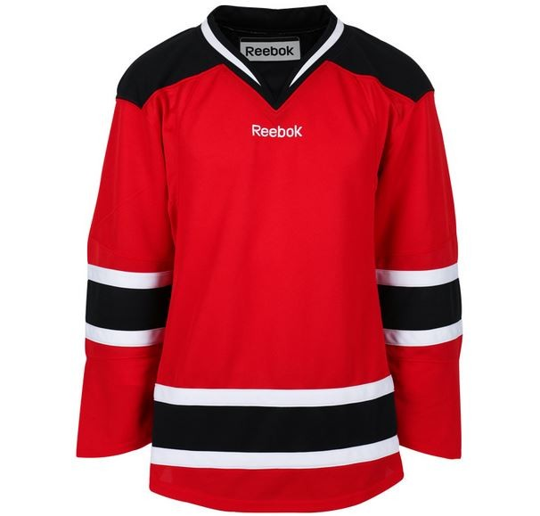Reebok New Jersey Devils Edge Adult Хоккейная Майка Домашняя